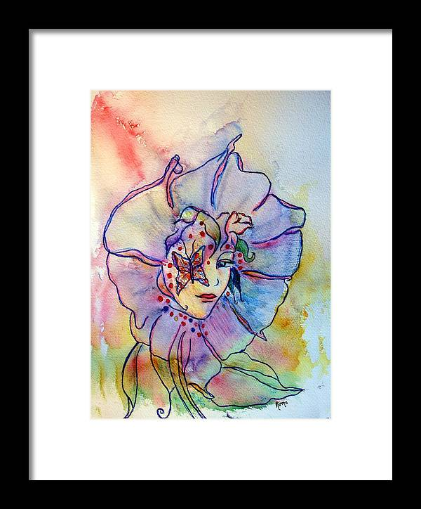 Floral Framed Print featuring the painting Morning Glory by Robin Monroe