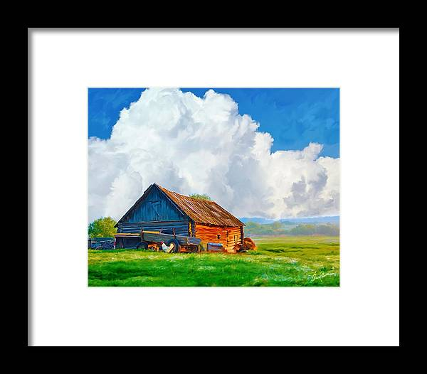 Landscape Framed Print featuring the painting Morning Glory by Steven Lester