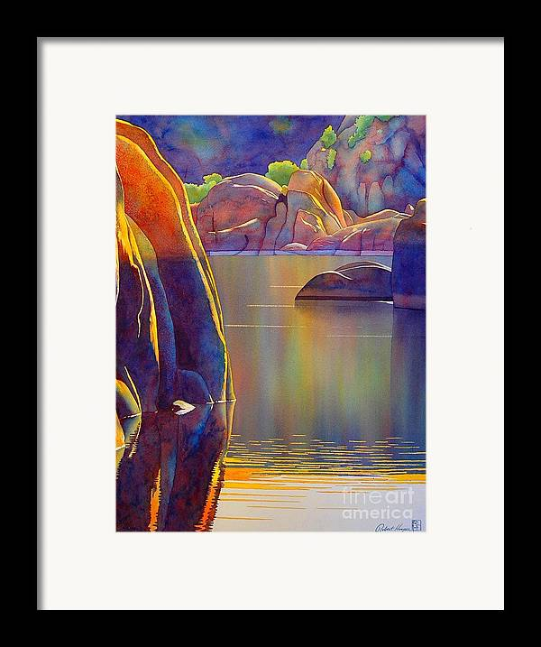 Watercolor Framed Print featuring the painting Morning Glow by Robert Hooper