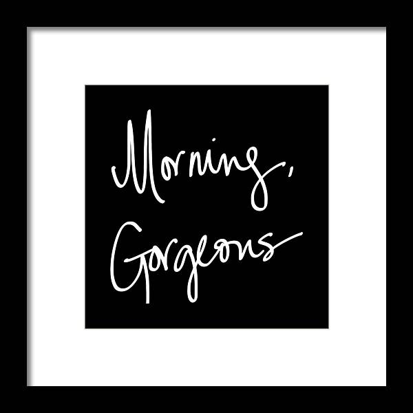 Morning Framed Print featuring the digital art Morning Gorgeous by South Social Studio