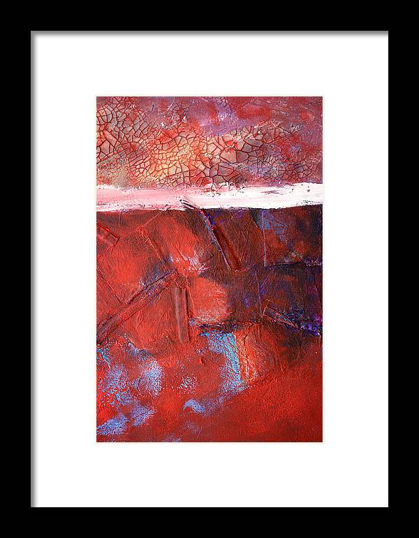 Mixed Media Framed Print featuring the mixed media Morning Grit by Nancy Merkle