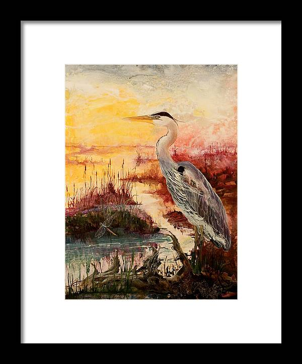 Sunrise Framed Print featuring the painting Morning Has Broken by Sherry Shipley