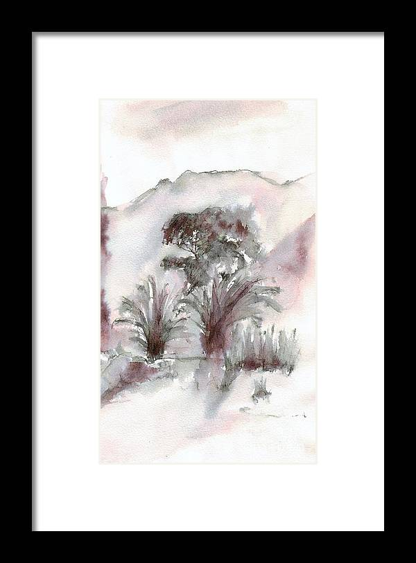 Garden Framed Print featuring the drawing Morning by Karina Plachetka