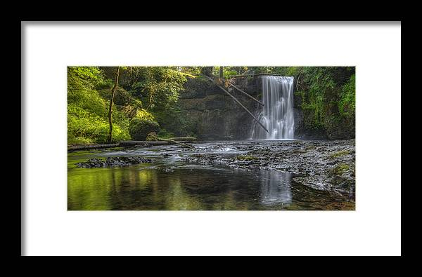 Loree Johnson Framed Print featuring the photograph Morning Light At Upper North Falls by Loree Johnson