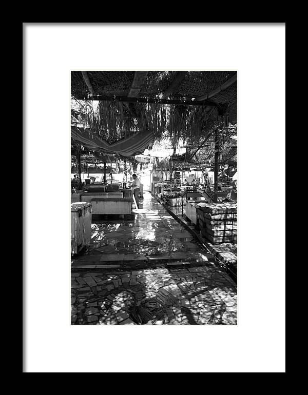 Jezcself Framed Print featuring the photograph Morning Market by Jez C Self