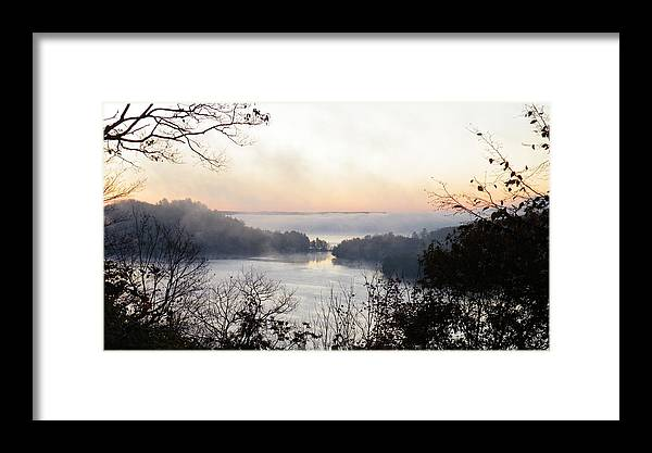 Landscape Framed Print featuring the photograph Morning Mist by Davandra Cribbie