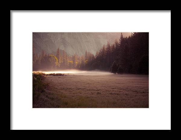 Morning Framed Print featuring the photograph Morning Mist by Howard Weitzel