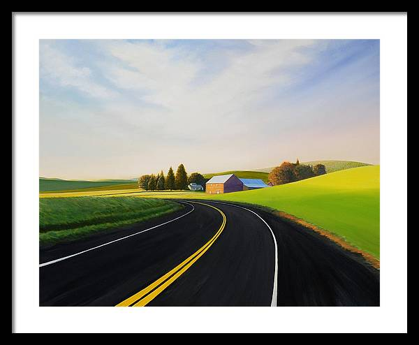 Barn Framed Print featuring the painting Morning Near Rosalia by Leonard Heid