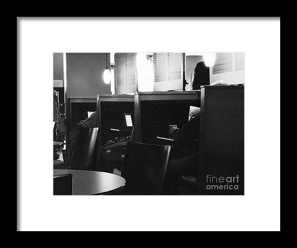 News Framed Print featuring the photograph Morning News - Monochrome by Frank J Casella