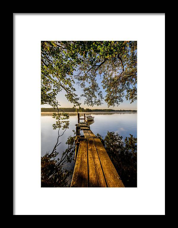 Lake Framed Print featuring the photograph Morning On The Lake by Catalin Tibuleac