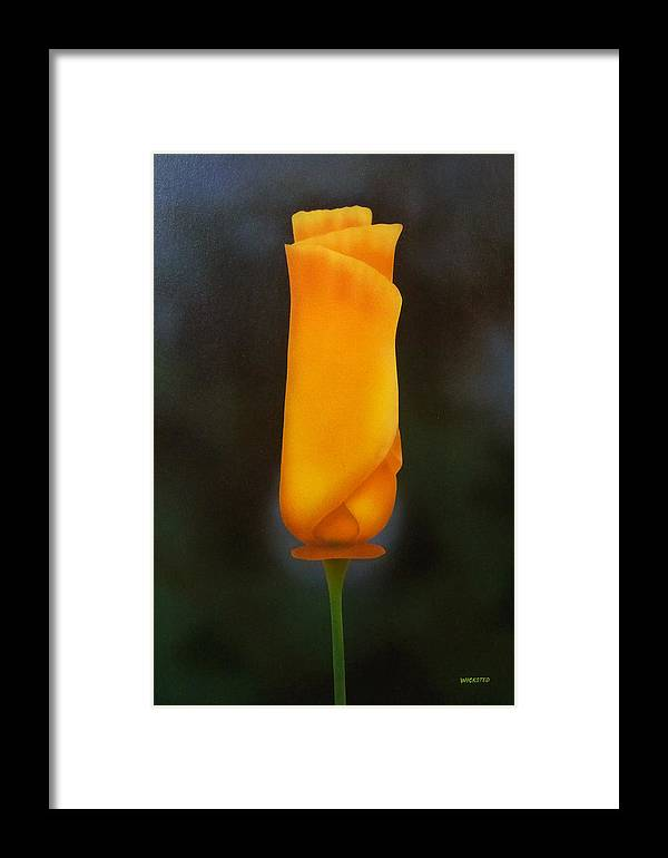 Poppy Framed Print featuring the painting Morning Poppy by Michael Wicksted