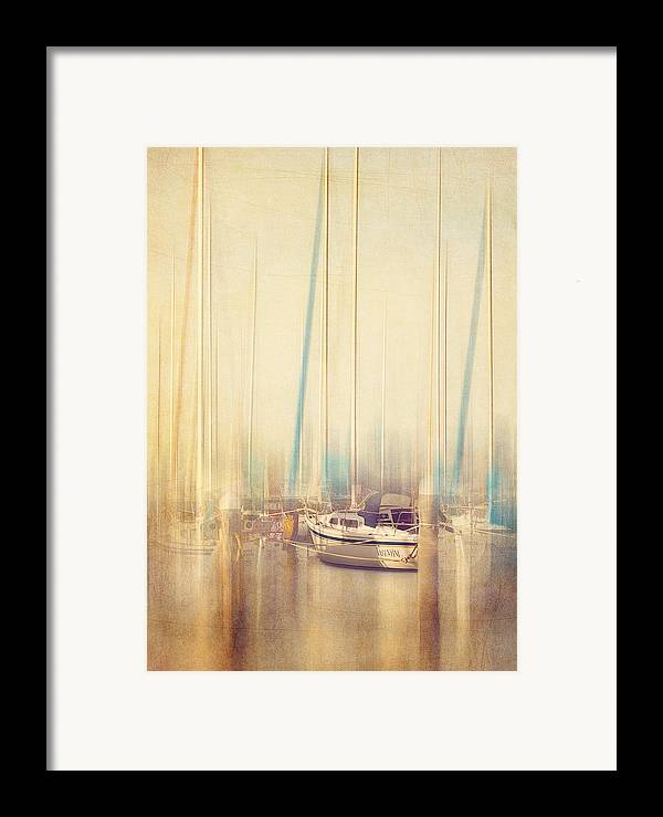 Boat Framed Print featuring the photograph Morning Sail by Amy Weiss