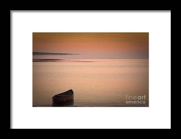 Sunrise Framed Print featuring the photograph Morning Sea Smoke by Brenda Giasson