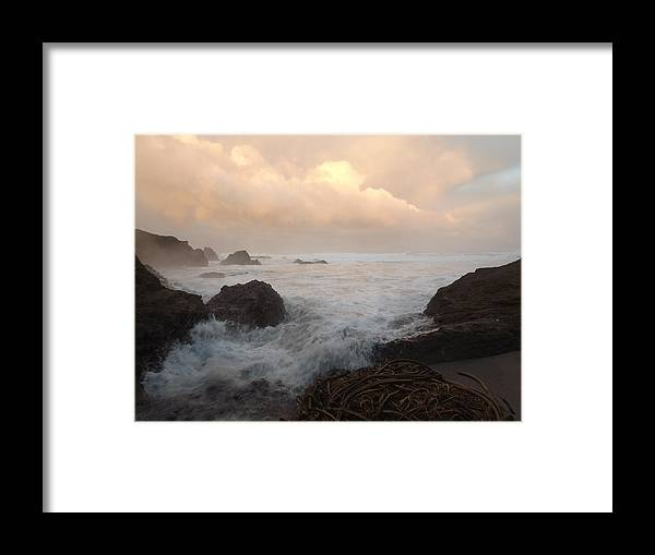 Framed Print featuring the photograph Morning Stormlight by Randy Esson