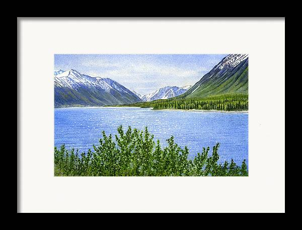 Watercolor Framed Print featuring the painting Morning Sun On Kenai Lake by Sharon Freeman