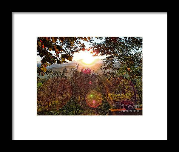 Sunrise Framed Print featuring the photograph Morning Sunbeams by Karen Lewis