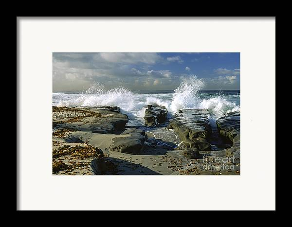 California Framed Print featuring the photograph Morning Tide In La Jolla by Sandra Bronstein