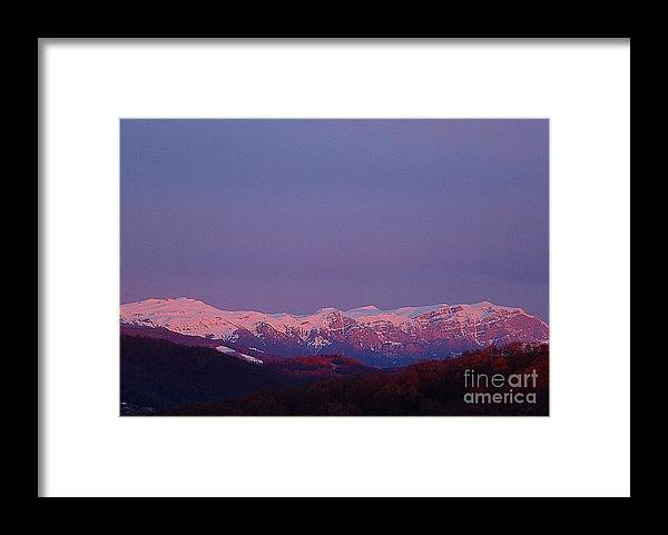 Mountains Framed Print featuring the photograph Morning View to the Mountains by Amalia Suruceanu
