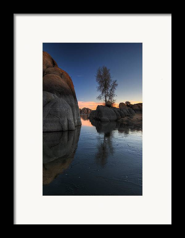 Landscape Framed Print featuring the photograph Morning Wood by Sean Foster