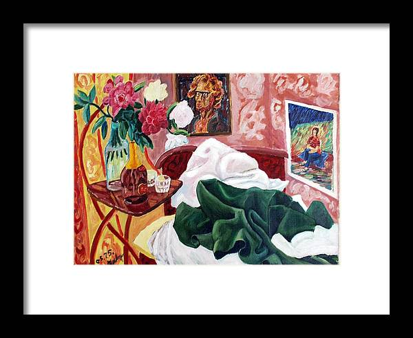 Bed Framed Print featuring the painting Morning's Disorder by Vladimir A Shvartsman