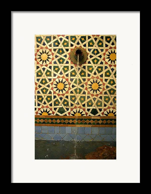 Morocco Framed Print featuring the photograph Moroccan Water Fountain by Ralph A Ledergerber-Photography