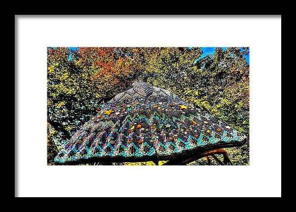 Tile Framed Print featuring the photograph Mosaic Fly by Louis Perlia