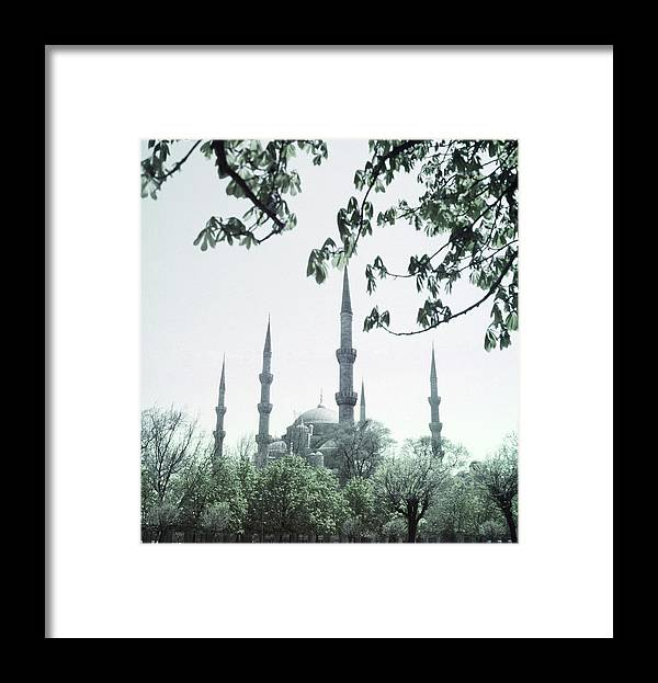 Turkey Framed Print featuring the photograph Mosque Behind Trees In Turkey by Horst P. Horst