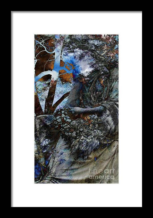 Moss Veils And Illuminated Framed Print featuring the digital art Moss Veils And Illuminated by Elizabeth McTaggart