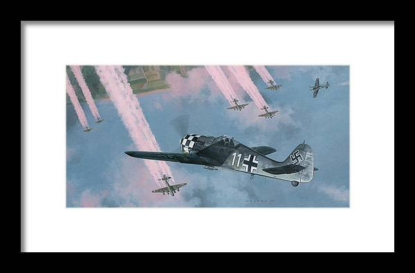 Fw 190 Framed Print featuring the painting Most Dangerous Game by Wade Meyers