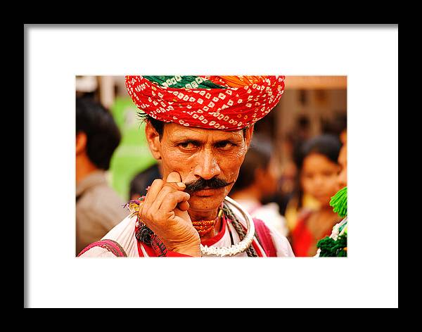 Mostach Framed Print featuring the photograph Mostach Man by Money Sharma