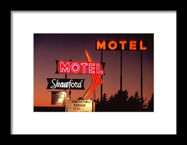 Route 66 Framed Print featuring the photograph Motel by Christian Heeb
