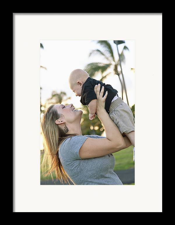 Ala Moana Framed Print featuring the photograph Mother And Baby by Brandon Tabiolo