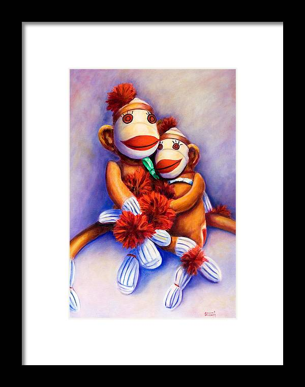 Children Framed Print featuring the painting Mother And Child by Shannon Grissom
