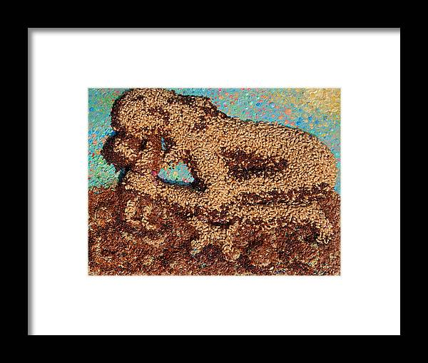 Mother And Child Framed Print featuring the mixed media Mother Earth IV by Naomi Gerrard