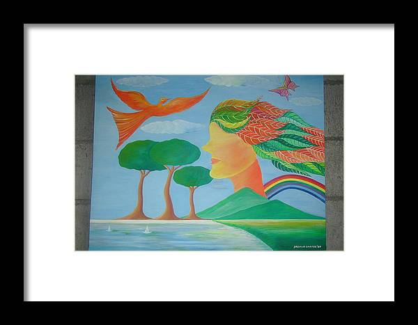 Framed Print featuring the painting Mother Nature by Nilo Delos Santos