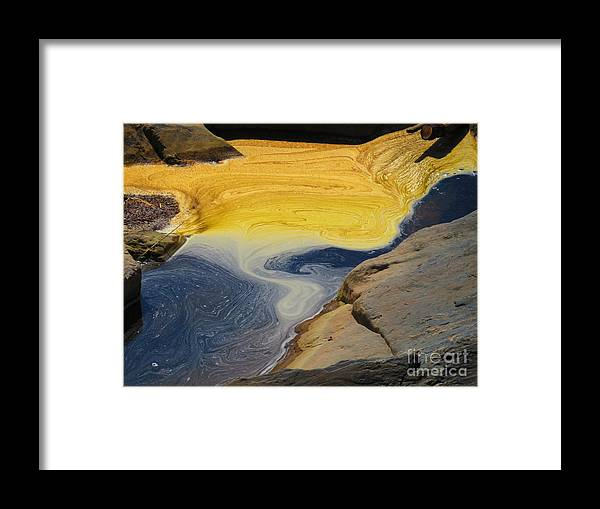 Water Framed Print featuring the photograph Mothers abstract 11 by Rrrose Pix