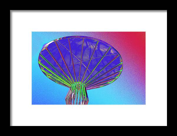 Alien Framed Print featuring the photograph Mothership at Dock by Richard Henne