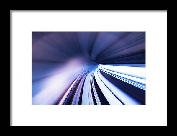 Curve Framed Print featuring the photograph Motion Tunnel by Loveguli
