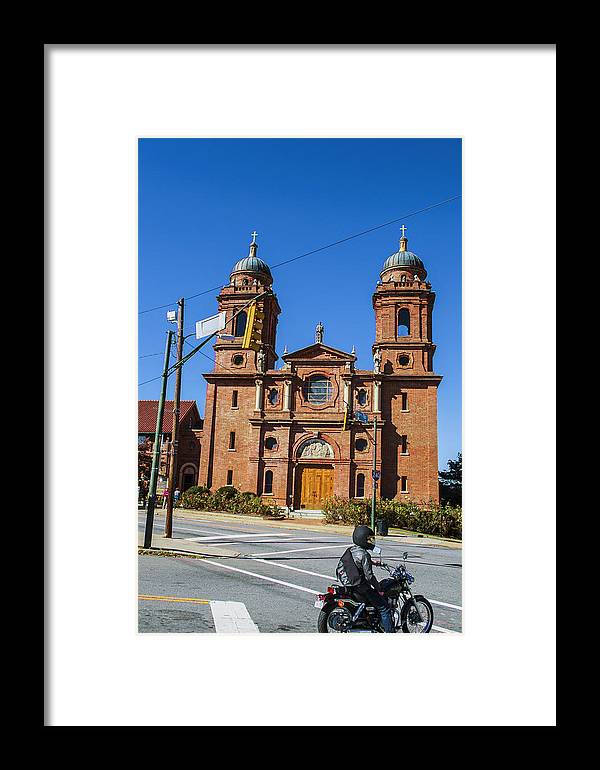 Ashville Framed Print featuring the photograph Motorcycle by Jason Chewning