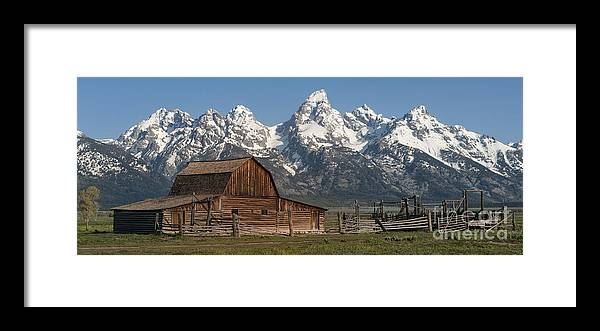 Grand Teton Framed Print featuring the photograph Moulton Barn - Grand Tetons I by Sandra Bronstein