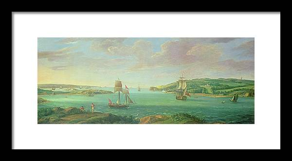 Plymouth Sound Framed Print featuring the painting Mount Edgcumbe by Banfield