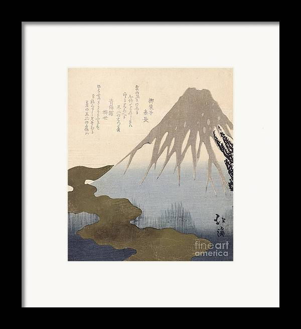 Mountain Framed Print featuring the painting Mount Fuji Under The Snow by Toyota Hokkei