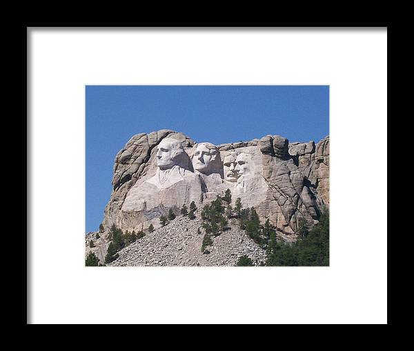 Mount Rushmore Framed Print featuring the photograph Mount Rushmore by Joan Shiffler