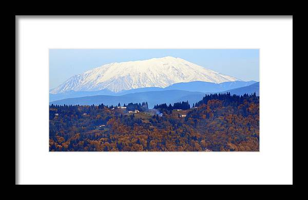 View Framed Print featuring the photograph Mount St. Helens by Jeri lyn Chevalier