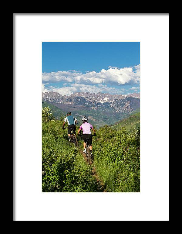 30-34 Years Framed Print featuring the photograph Mountain Biking by Jack Affleck