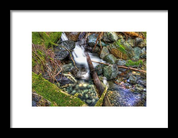 Long Exposure Framed Print featuring the photograph Mountain Creek by Bryan Hildebrandt