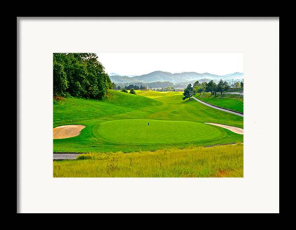 Golf Framed Print featuring the photograph Mountain Golf by Frozen in Time Fine Art Photography