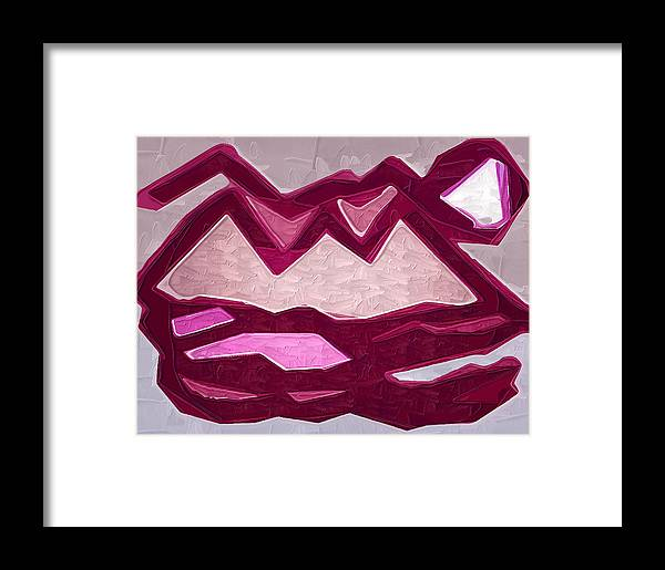 Abstract Framed Print featuring the painting Mountain by Kirt Tisdale