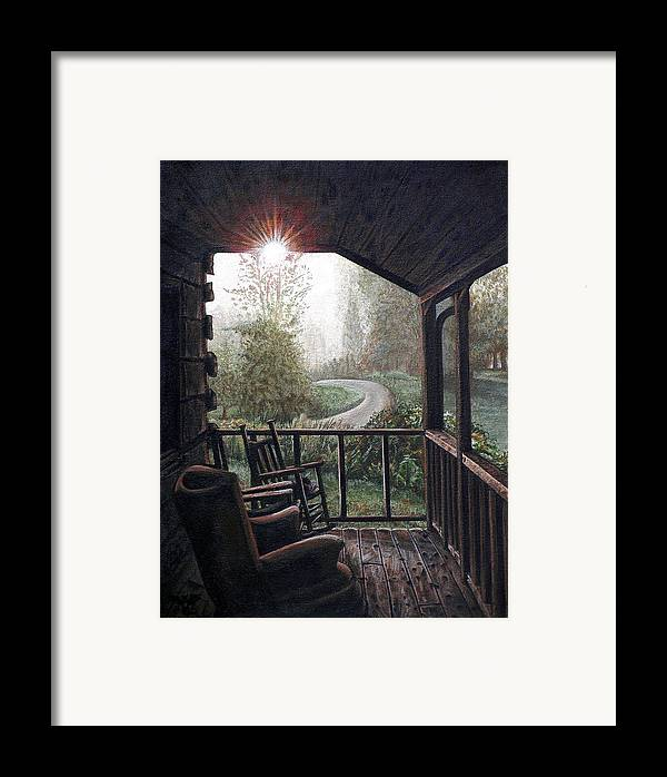 Mountain Framed Print featuring the painting Mountain Memories by Cara Bevan