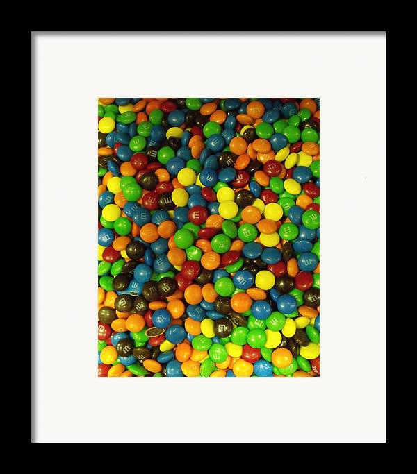 Chocolate Framed Print featuring the photograph Mountain Of M And M's by Anna Villarreal Garbis